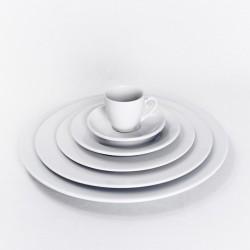 Assiette ronde porcelaine blanche
