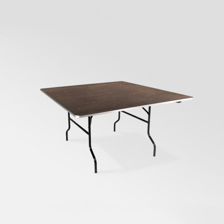Table bois carrée