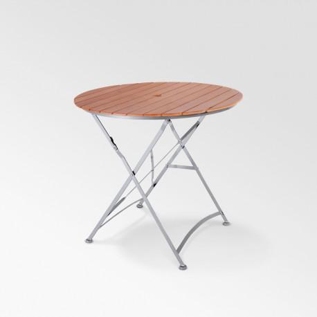 Table SQUARE couleur bois / structure acier