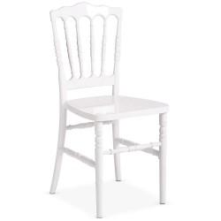 Chaise napoléon blanche fixe