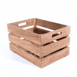 Cagette en bois couleur chêne 35X25x20cm