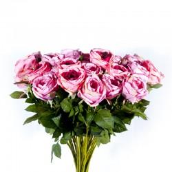 Fleur : Rose Romance / Tige 70cm, artificielle