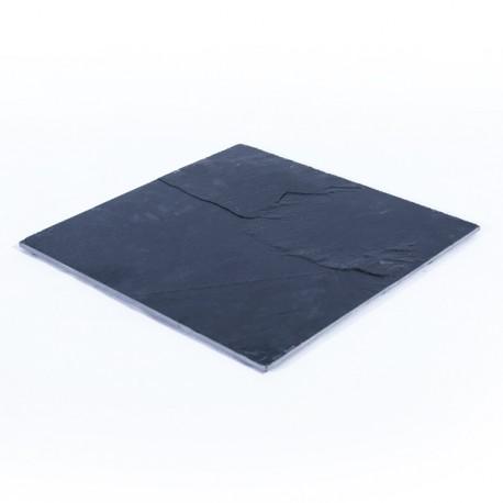 Assiette ardoise carrée 28x28cm